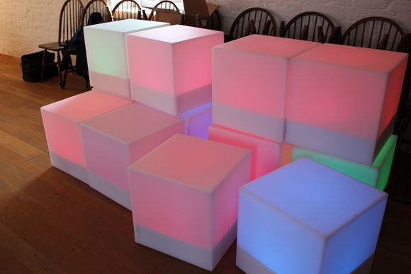 stacked light cubes